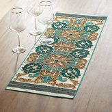 """Pier 1 Imports Golden Turquoise Embroidered Table Runner 36"""""""