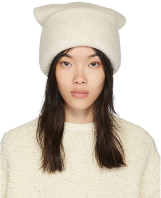 LAUREN MANOOGIAN White Alpaca Carpenter Beanie