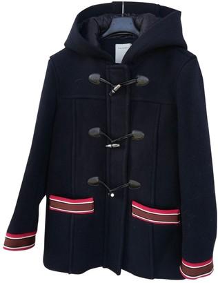 Sandro Blue Wool Coat for Women