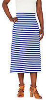 As Is Liz Claiborne New York Striped Midi Skirt