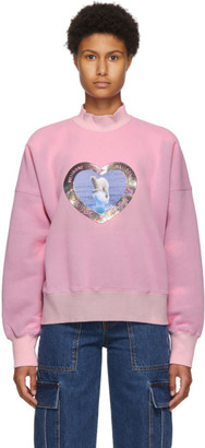 we11done Pink Thermo Sensitive Polar Bear Sweatshirt
