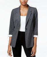 Kensie Three-Quarter-Sleeve Crepe Blazer