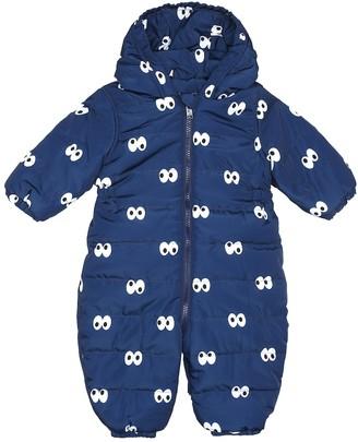 Stella Mccartney Kids Baby printed puffer onesie