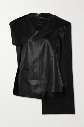 Proenza Schouler Draped Leather Top - Black