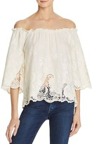Ella Moss Off-The-Shoulder Lace Top