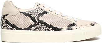 Rag & Bone Rb Army Low Suede-paneled Snake-effect Leather Sneakers