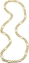 JCPenney FINE JEWELRY Made in Italy Mens 14K Yellow Gold 22 Hollow Figaro Chain Necklace