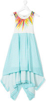 Junior Gaultier asymmetric hem dress - kids - Cotton/Spandex/Elastane/Viscose - 8 yrs