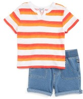Splendid Infant Boy's Stripe Tee & Shorts Set