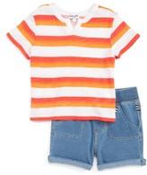 Splendid Infant Girl's Stripe Tee & Shorts Set