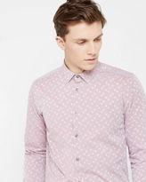 LONGHOP Spot jacquard shirt