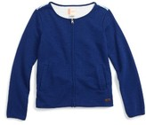 Roxy Girl's Francisco Waves Zip Sweatshirt