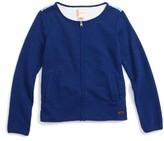 Roxy Girl's Francisco Waves Zip Sweatshirt