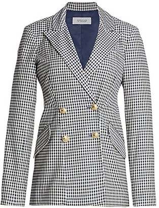 Derek Lam 10 Crosby Rodeo Gingham Double-Breasted Blazer