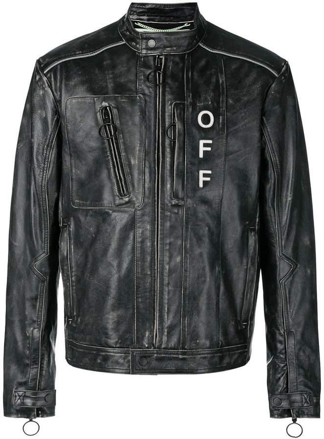 Off-White zip pocket distressed jacket