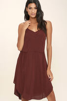 Gentle Fawn Pony Burgundy Midi Dress