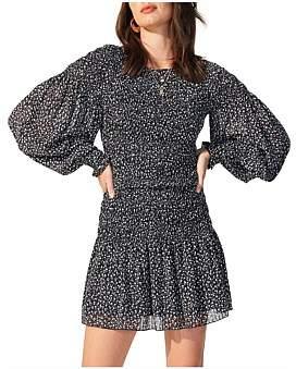 MinkPink Marietta Long Sleeve Fitted Mini Dress