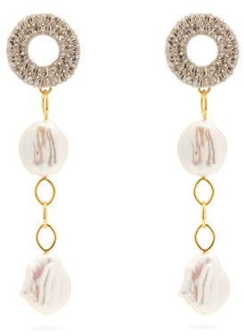 Lizzie Fortunato Chateau Freshwater Pearl Drop Earrings - Pearl
