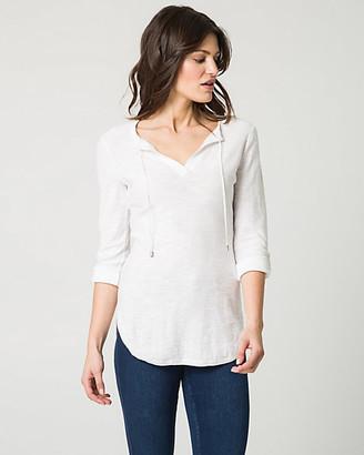 Le Château Cotton Lace-Up Henley Sweater