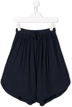 Chloé Kids oversized drawstring shorts