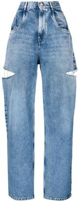 Maison Margiela cut-out detail jeans