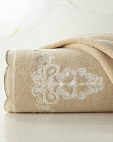 """Lenox French Perle"""" Embroidered Face Cloth"""