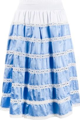 Prada Tiered High-Waisted Skirt