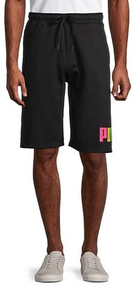 Puma Fleece Big Logo Drawstring Shorts