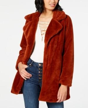 CoffeeShop Juniors' Faux-Fur Coat