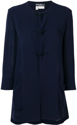 Salvatore Ferragamo Pre-Owned 1970's Collarless Flared Coat