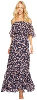 Donna Morgan Off Shoulder Chiffon Maxi Women's Dress