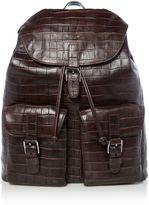 Michael Kors Bryant Mock Crocodile Leather Backpack