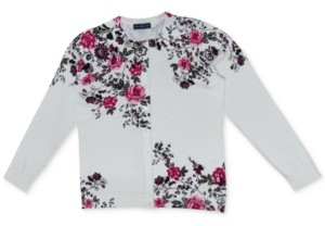 Karen Scott Paloma Floral-Print Cardigan, Created for Macy's