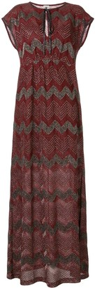 M Missoni Zigzag Embroidered Maxi Dress