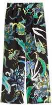 H&M Patterned Silk Pants - Black - Ladies