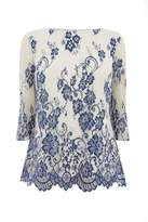 Oasis LACE FLUTE SLEEVE TOP