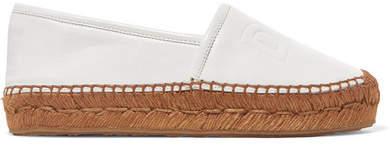 Dolce & Gabbana Logo-embossed Leather Espadrilles - White