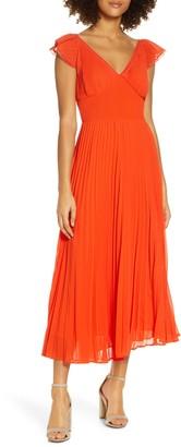 Foxiedox Anoki Fit & Flare Georgette Midi Dress