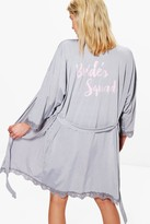 boohoo Georgina Brides Squad Robe grey