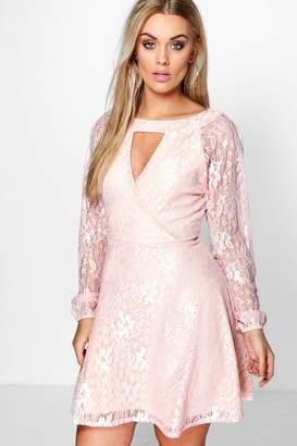boohoo Plus Lace Skater Dress