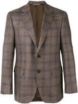 Canali checked blazer - men - Silk/Linen/Flax/Cupro/Wool - 50