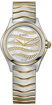 Ebel Wave Diamond Set Dial Diamond 9ct Gold And Stainless Steel Ladies Watch