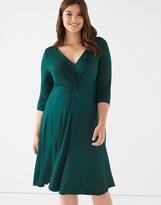 Scarlett & Jo Plus Jersey Knot Front Dress