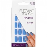 Elegant Touch Polished Nails Eleanor, Pastel Blue Matt 24 pack