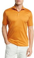 Ermenegildo Zegna Mercerized Cotton Polo Shirt, Bright Orange
