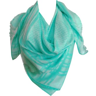 Fendi Green Cotton Scarves