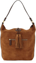 Frye Clara Suede Tassel Hobo Bag, Brown
