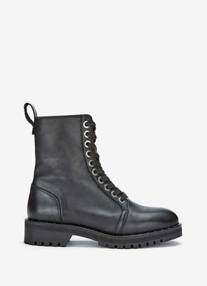 Mint Velvet Debbie Black Leather Boots