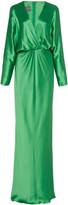 Monique Lhuillier Dolman-Sleeve Crepe Gown