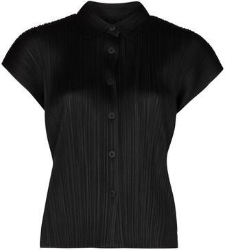 Pleats Please Issey Miyake Plisse Short-Sleeve Shirt